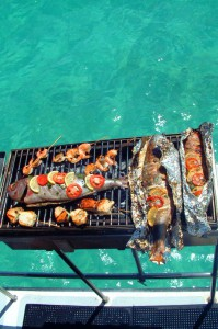 Have lunch on a catamaran in Black River, Mauritius